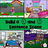 Build a K and G Articulation Sentence Scene No Print Freebie