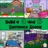 Build a K and G Articulation Sentence Scene No Print Freebie
