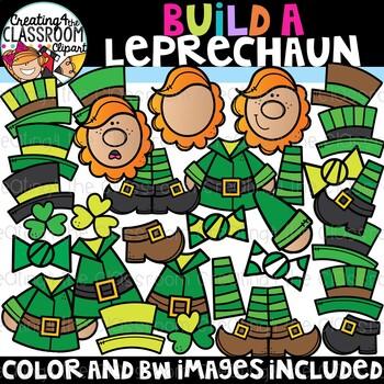 Build a Leprechaun Clipart {Leprechaun Clipart}