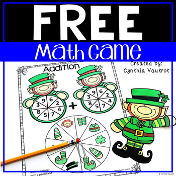 Build a Leprechaun Math Game for Addition or Multiplication Facts