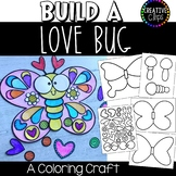 Build a Love Bug Craft: Coloring Pages {Made by Creative Clips}