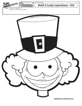St. Patrick's Day: Build a Leprechaun Girl