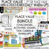 Place Value Bundle: Challenging Place Value Task Cards, Me