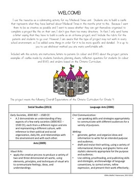 Build a Medieval Times Castle Interdisciplinary Project - Canadian Spelling