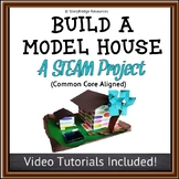Build a Model House STEAM Activity-Measure Area, Perimeter, Volume and More!