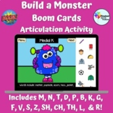 Build a Monster Boom Cards™ Speech Therapy Halloween Artic
