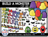 Build a Monster Clipart 2-Bright Colors