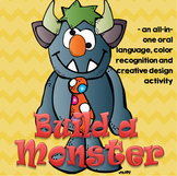 Build a Monster - Language, Color Recognition and Creative Activity