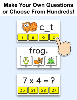 Review Game for any Subject: Build a Monster - Test Prep SmartBoard Game