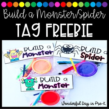 Build a Monster/Spider Tag FREEBIE