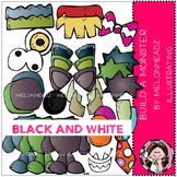 Build a Monster clip art - BLACK AND WHITE- by Melonheadz