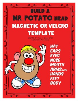 Build a Mr. Potato Body Parts Template: Velcro/Magnetic