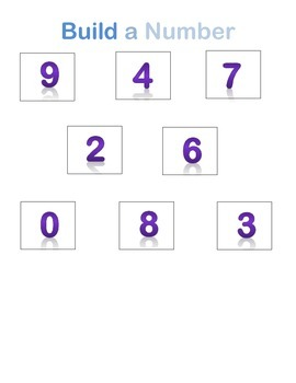 Build a Number 0-9