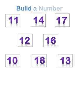 Build a Number 10-19