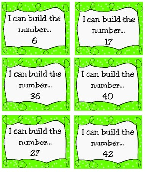 Place Value ~ Build a Number, Set 1