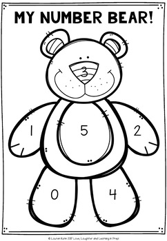 Build a Number Bear! Numbers 0-5