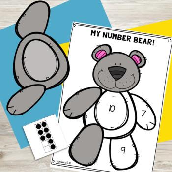 Number Game 0-5 {Build a Number Bear!}