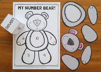 Number Game 5-10 {Build a Number Bear!}