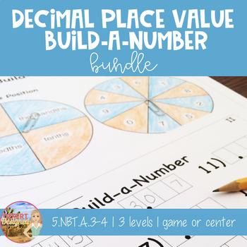 Decimal Place Value Build-a-Number Bundle