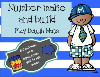 Number Make and Build - Number Play Dough Mats