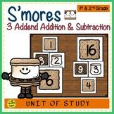 S'more Build 3 Addend Addition & Subtraction Number Sentence