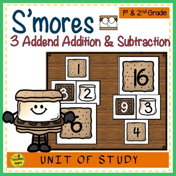 S'more Build 3 Addend Addition & Subtraction Number Sentence