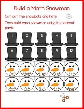 Build a Number Snowman: No-Prep Mathtivity!