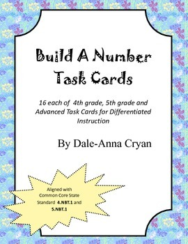Build a Number Task Cards - Place Value Builders