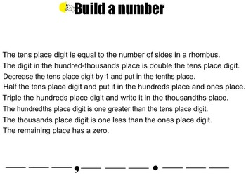 5th Grade Math Place Value: Build a Number with Guy Infinity
