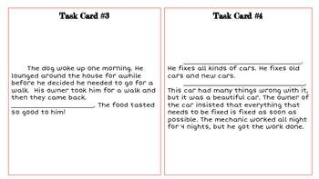 Build a Paragraph Task Cards