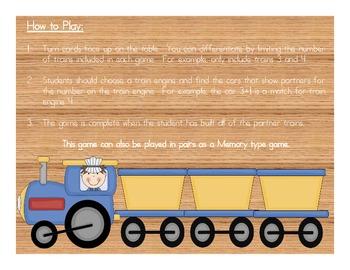 Build a Partner Train - Basic Facts Math Game