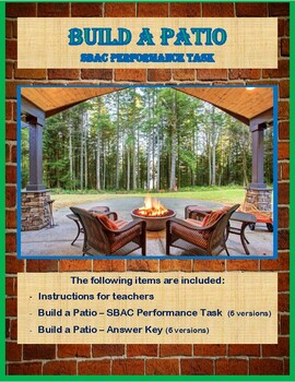 Build a Patio – SBAC Performance Task