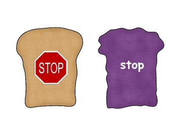 Build a Peanut Butter & Jelly Sandwich Game; Consonant Clusters, Blends;