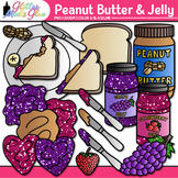 Build a Peanut Butter and Jelly Sandwich Clipart {Glitter Meets Glue}