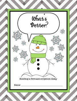 Build a Persuasive/Opinion Essay-What's Better?