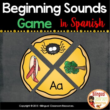 Build a Pizza Beginning Sounds In Spanish