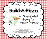 Build a Pizza Game:  An Open-Ended Game for Speech Therapy