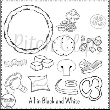Build a Pizza Pack - Pizza clipart - Pizza clip art - Pizza Fractions