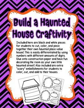 Build a Place Value HAUNTED House - Halloween 2 and 3 Digit Place Value
