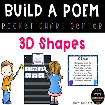 Build a Poem ~ 3D Shapes ~ Pocket Chart Center