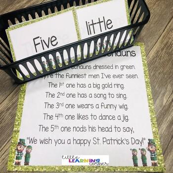 Build a Poem ~ 5 Little Leprechauns ~ St. Patrick's Day Pocket Chart Center