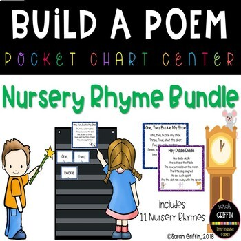 Build a Poem ~Bundle ~ Classic Nursery Rhyme Pocket Chart Center
