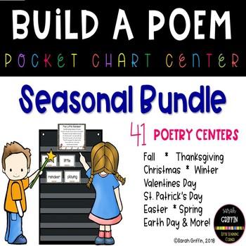 Build a Poem ~ Bundle ~ Seasonal Pocket Chart Poems
