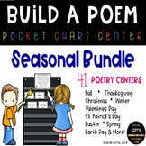Build a Poem Bundle - Year Round Pocket Chart Poetry Centers