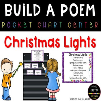 Build a Poem ~ Christmas Lights ~ pocket chart poetry center
