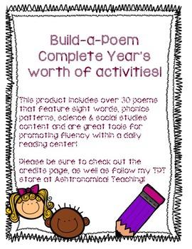 Build-a-Poem Complete Year Set