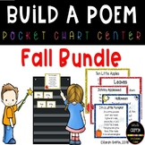 Build a Poem - Fall Pocket Chart Poetry Centers