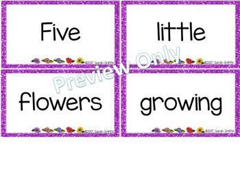 Build a Poem ~ Five Little Flowers ~ Pocket Chart Center