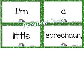 Build a Poem ~ Happy St. Patrick's Day ~ Pocket Chart Center
