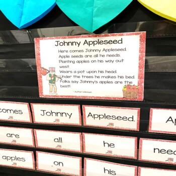 Build a Poem ~ Johnny Appleseed ~ Pocket Chart Center